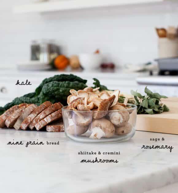 Kale & Shiitake Mushroom Stuffing / @loveandlemons #vegan
