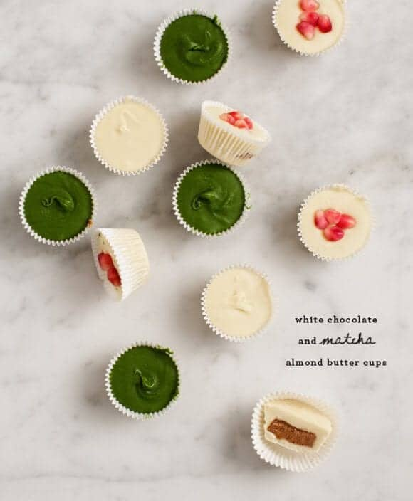 White Chocolate (& Matcha) Almond Butter Cups / @loveandlemons