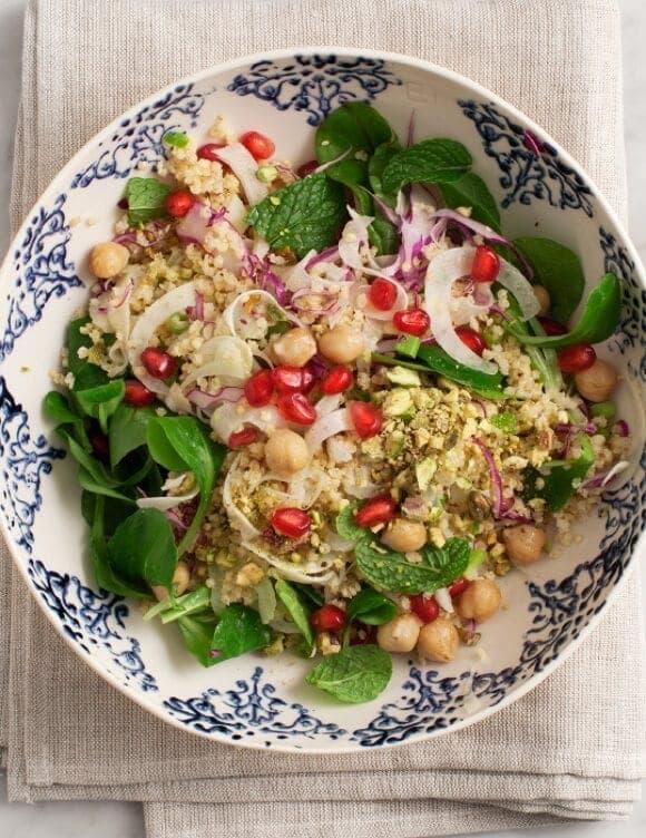 Minty Millet & Pomegranate Salad / @loveandlemons