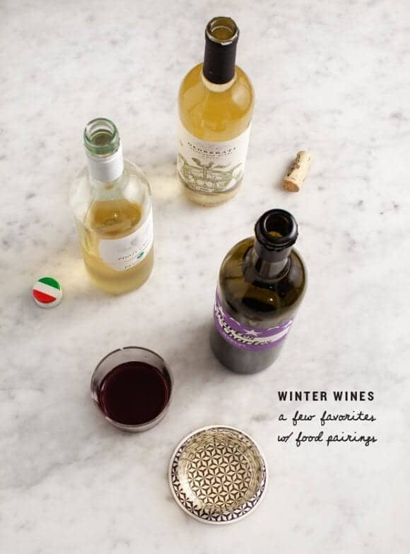 winter wines & food pairings / @loveandlemons