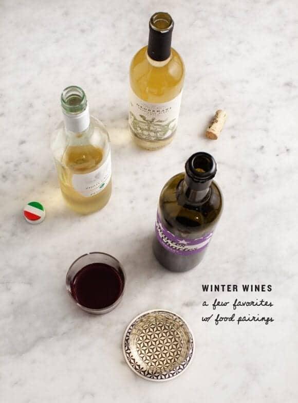 winter wines & food pairings / @loveandlemons