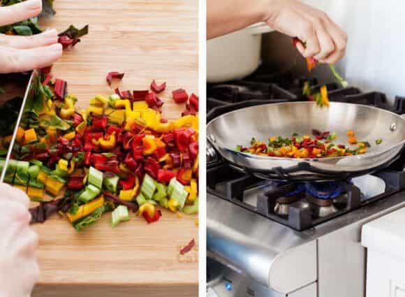 Rainbow Chard & Feta Orzo Bowls / www.loveandlemons.com