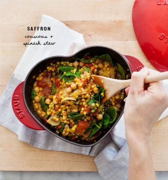 Saffron Couscous & Spinach Stew Recipe - Love and Lemons