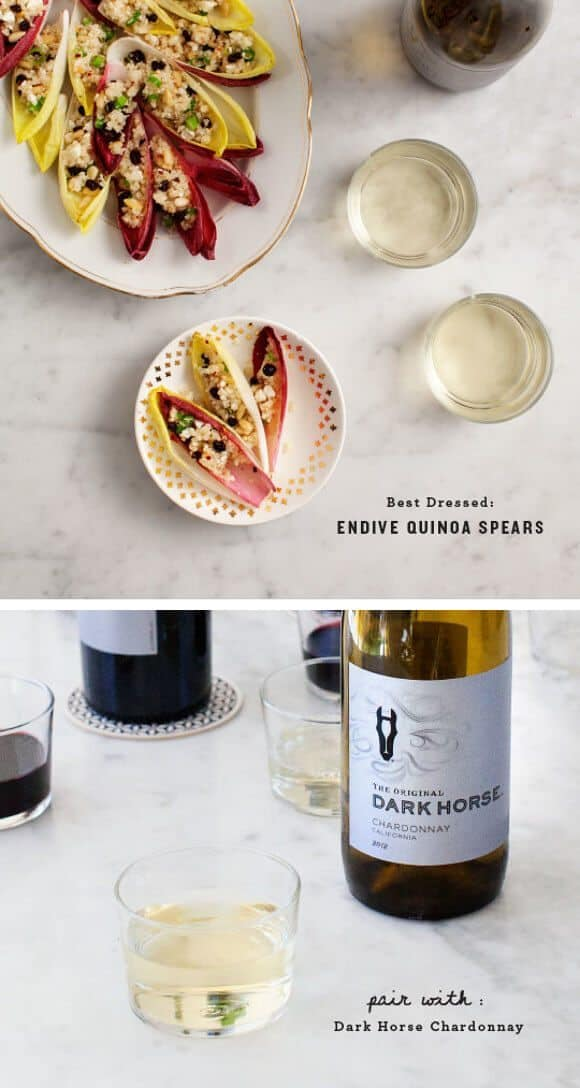 Oscar Party Appetizers / 'Best Dressed' Endive Quinoa Spears