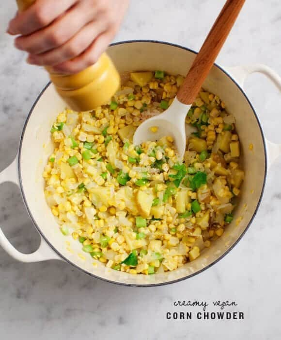 Creamy Vegan Corn Chowder Recipe - Love and Lemons