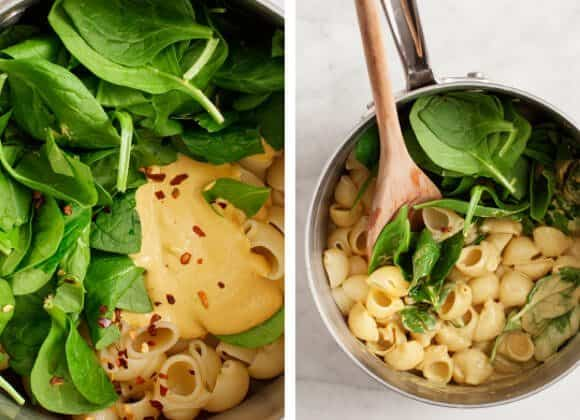 Vegan Spinach Mac & Cheese / www.loveandlemons.com