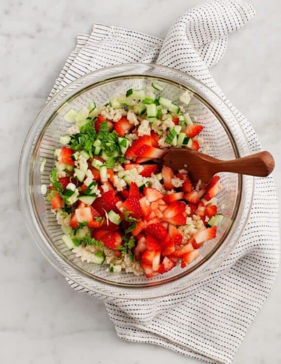 Sara's Strawberry Tabbouleh / loveandlemons.com