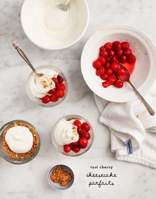 Tart Cherry Cheesecake Parfaits / loveandlemons.com