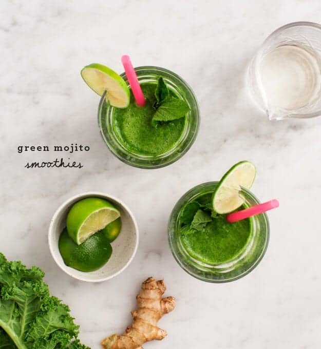 Green Mojito Smoothies from The Blender Girl Smoothies / www.loveandlemons.com