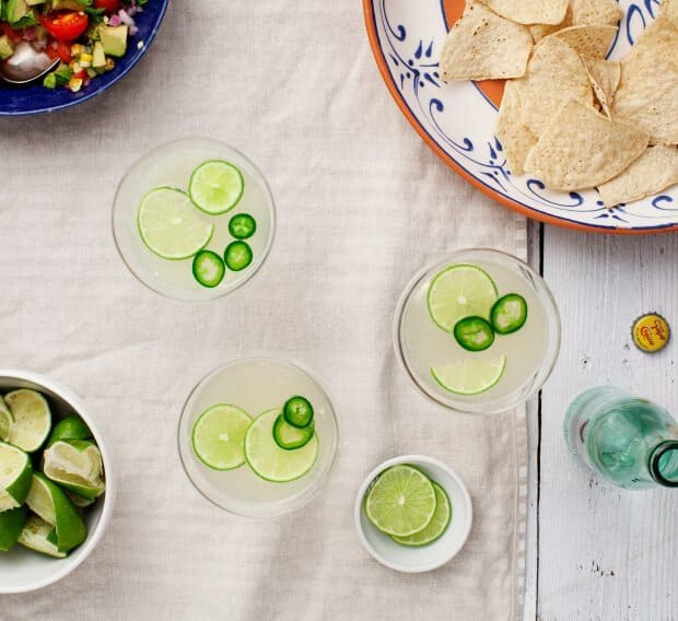 Jalapeño Margaritas / @loveandlemons