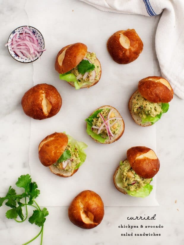 Curried Chickpea Salad Sliders Recipe - Love and Lemons