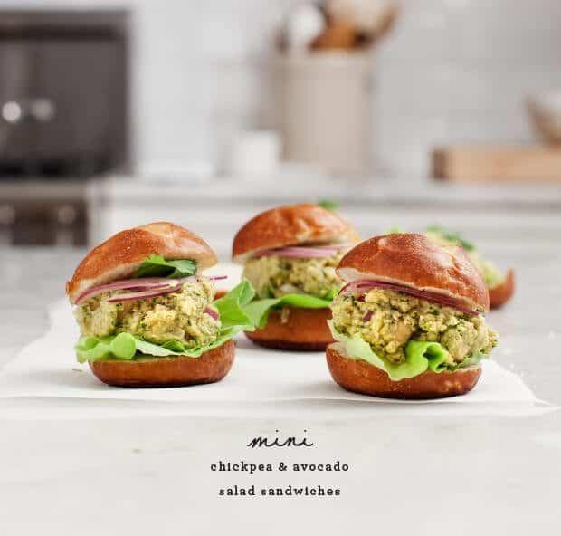 Curried Chickpea Salad Sliders / @loveandlemons