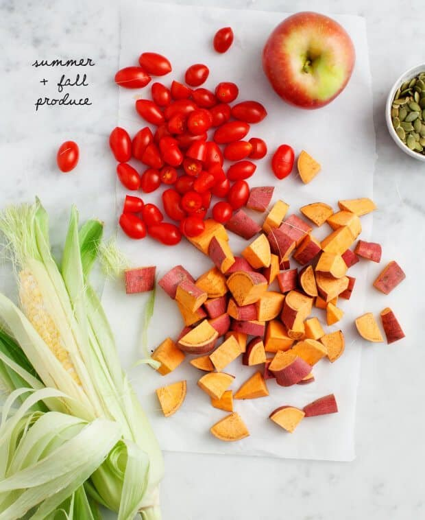 Roasted Chipotle Apple Sweet Potato Salad / loveandlemons.com