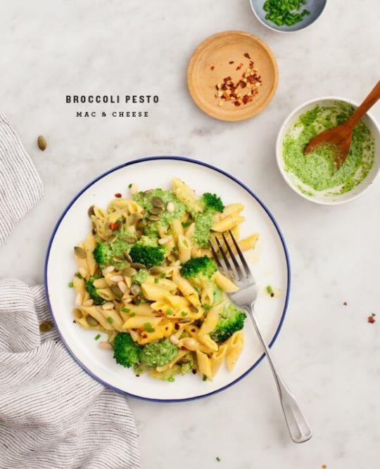 Broccoli Pesto Mac & Cheese Recipe - Love and Lemons