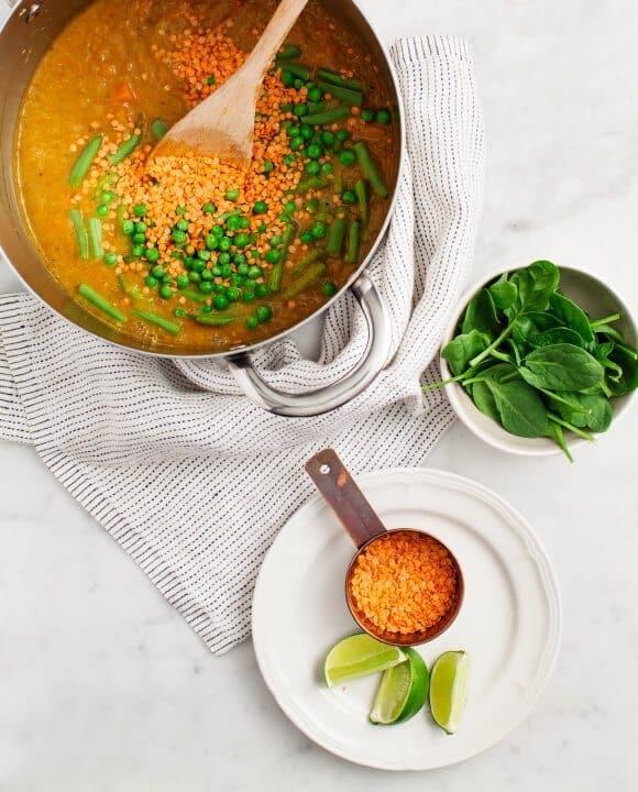 Curried Red Lentil Sweet Potato Stew / loveandlemons.com