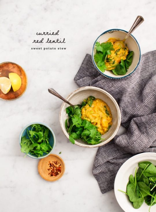 Curried Red Lentil Sweet Potato Stew Recipe - Love and Lemons