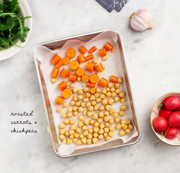 Tahini Noodles with Roasted Carrots & Chickpeas / loveandlemons.com