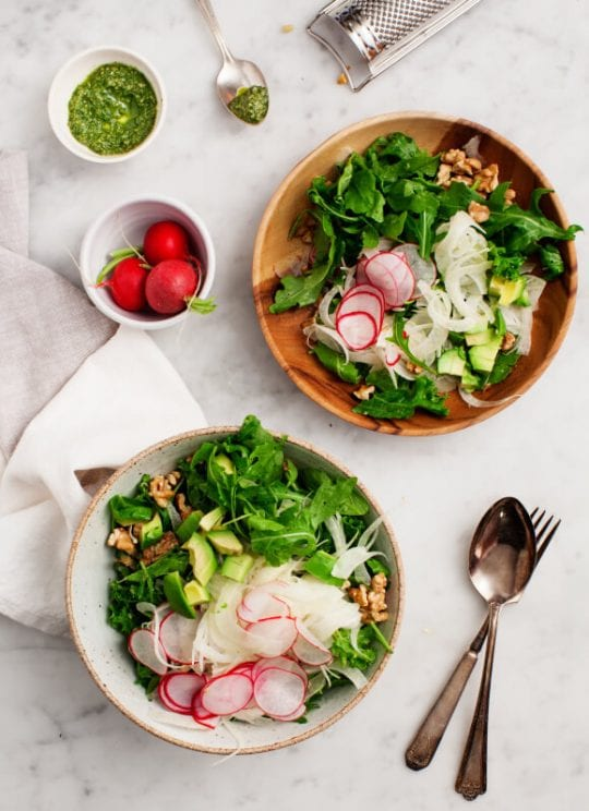Fennel Salad with Walnuts & Avocado