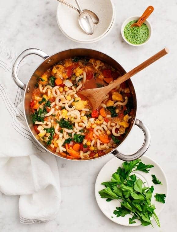 Chickpea & Cauliflower Minestrone, vegan & gluten free