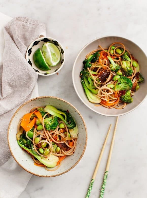 Stir-Fried Shiitake And Broccoli Slaw Recipe — Dishmaps