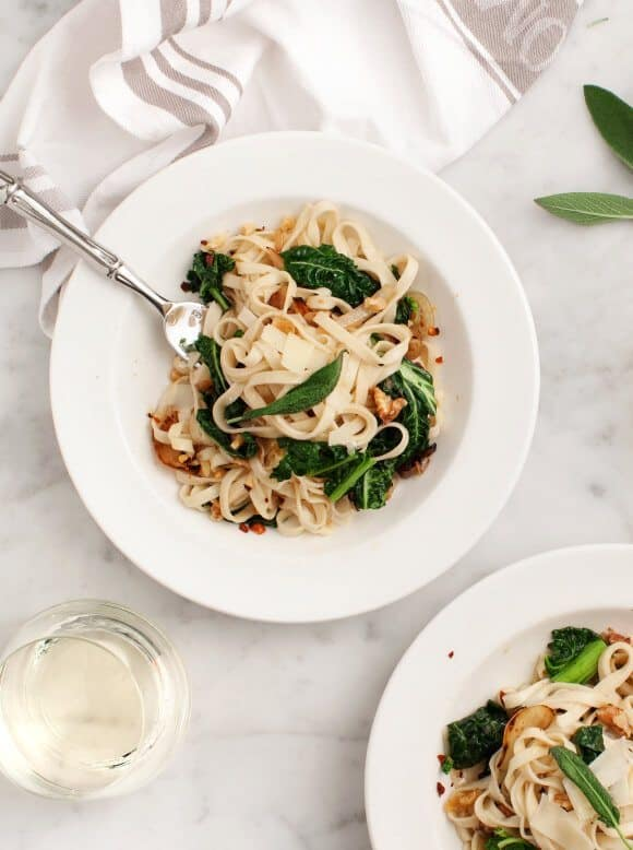 Linguine with Fennel & Winter Greens