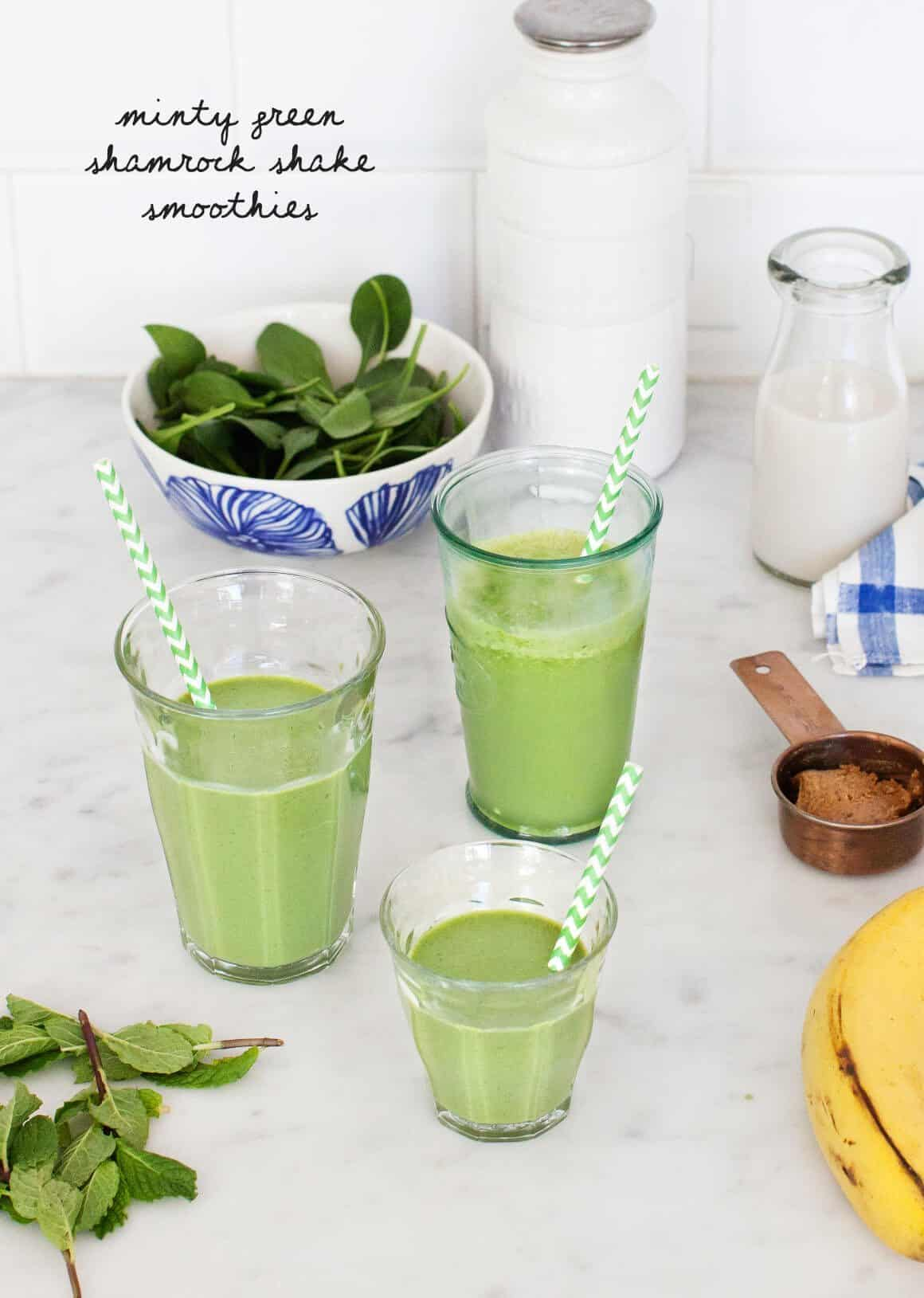 Minty Green Shamrock Shake Smoothies