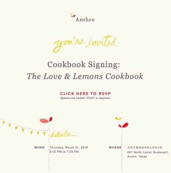 Love & Lemons Cookbook Signing at Anthropologie