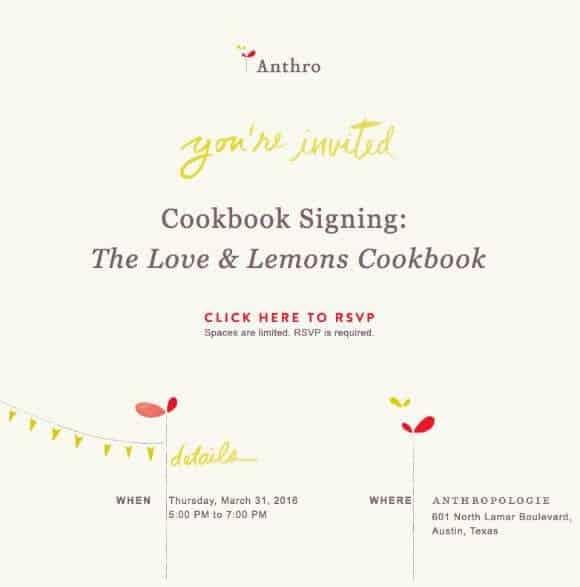 Love & Lemons Cookbook Signing at Anthropologie