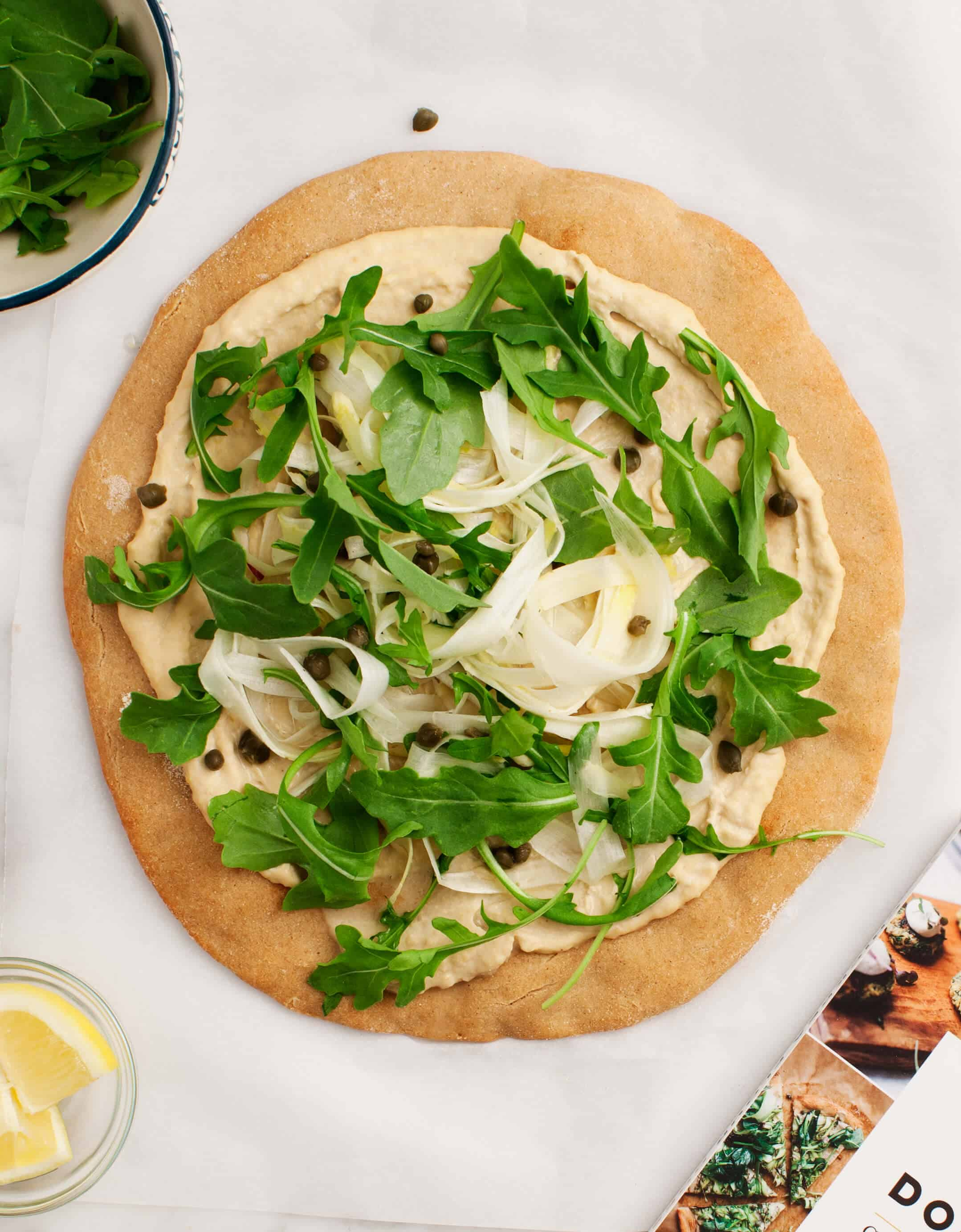 Chickpea Flour Pizza with Asparagus