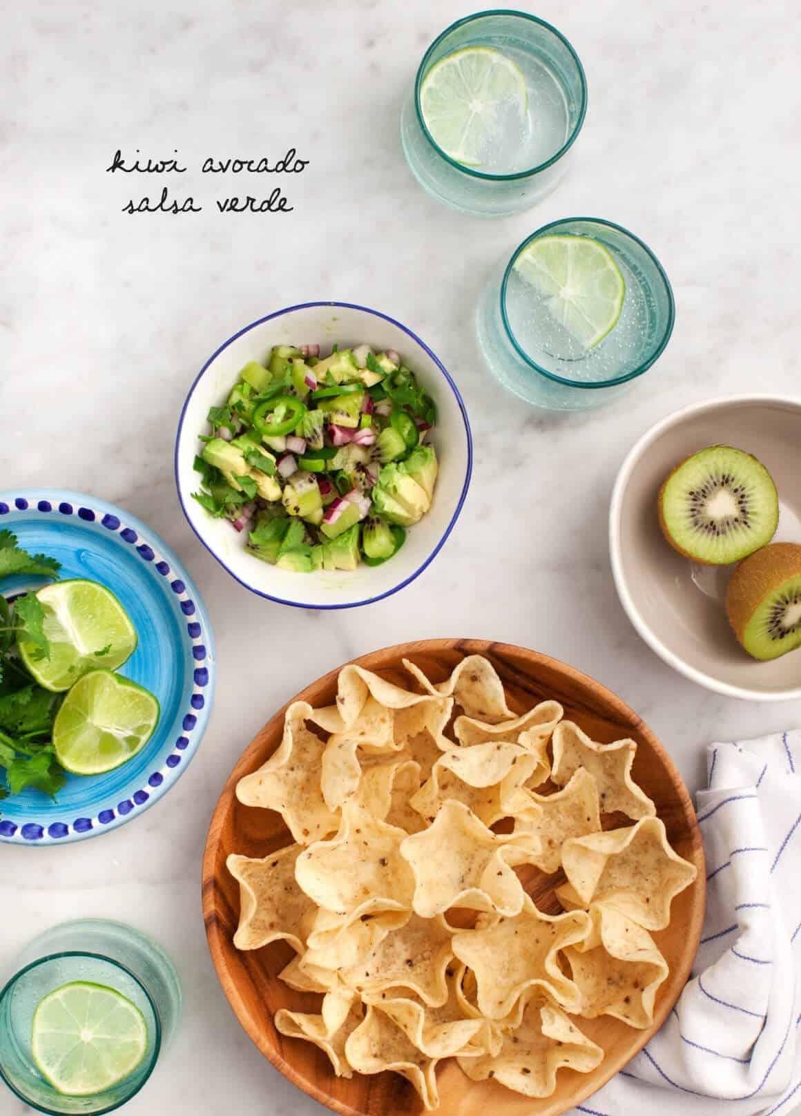 Kiwi Avocado Salsa Verde