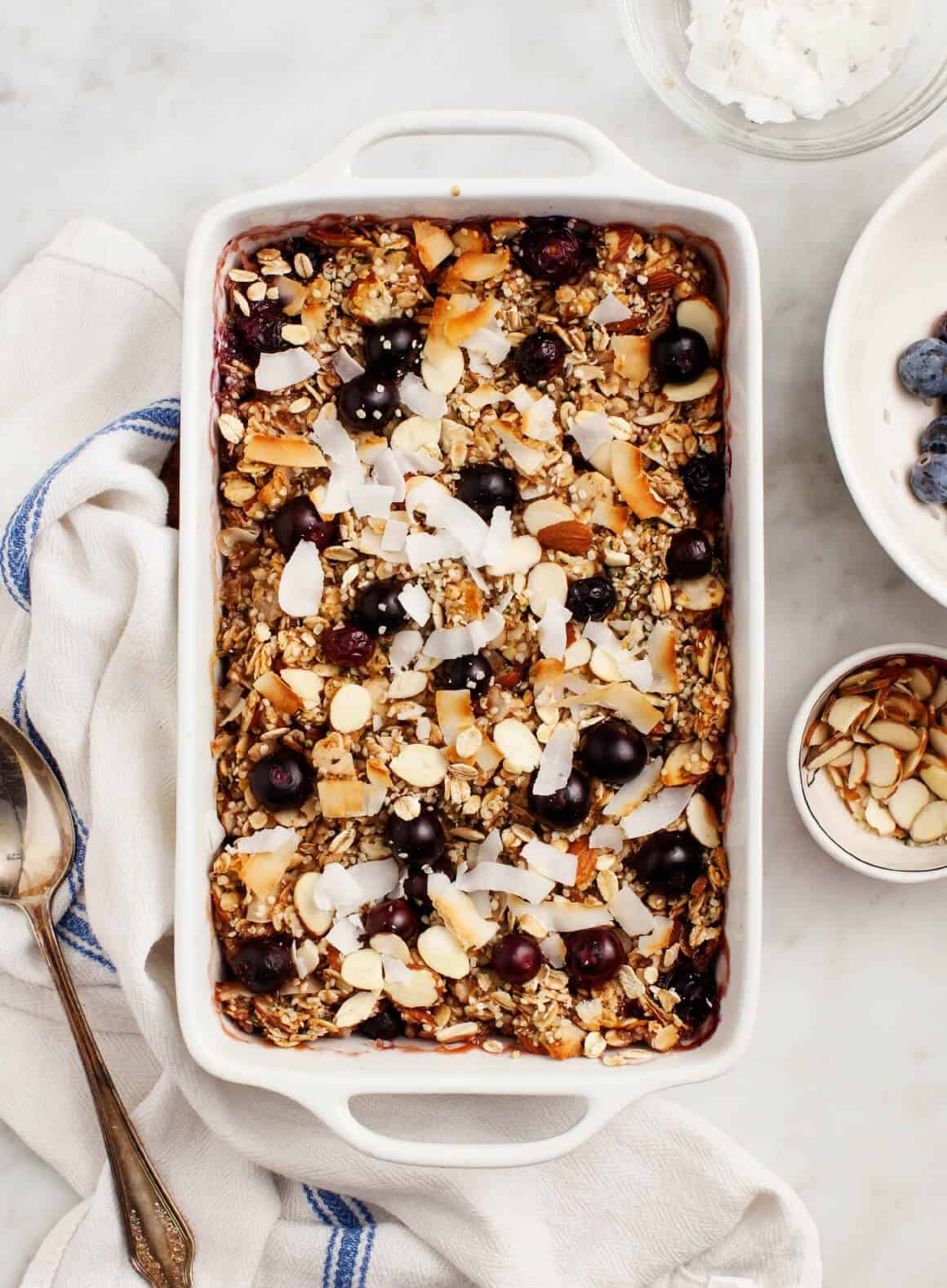 Blueberry Coconut Baked Oatmeal