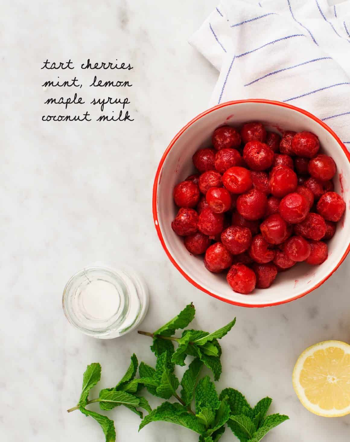 Tart Cherry & Mint Sorbet