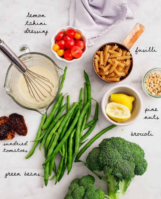 Broccoli Tahini Pasta Salad