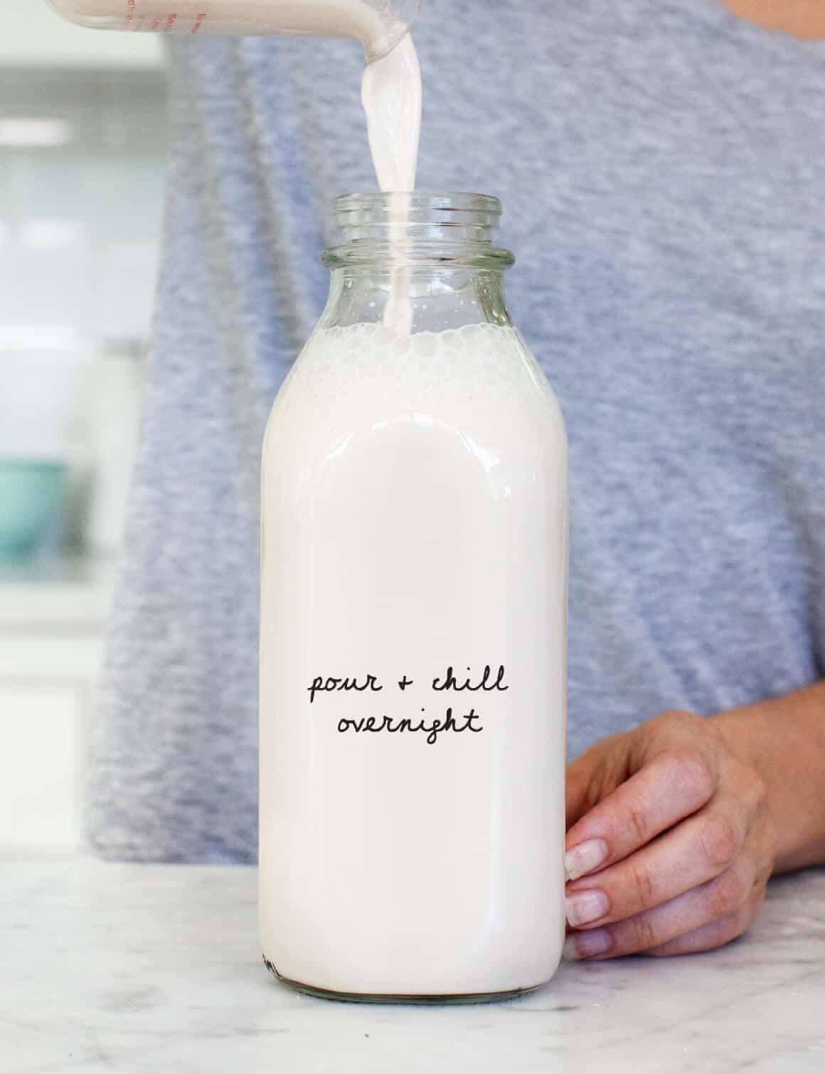Homemade Vanilla Hazelnut Milk Latte