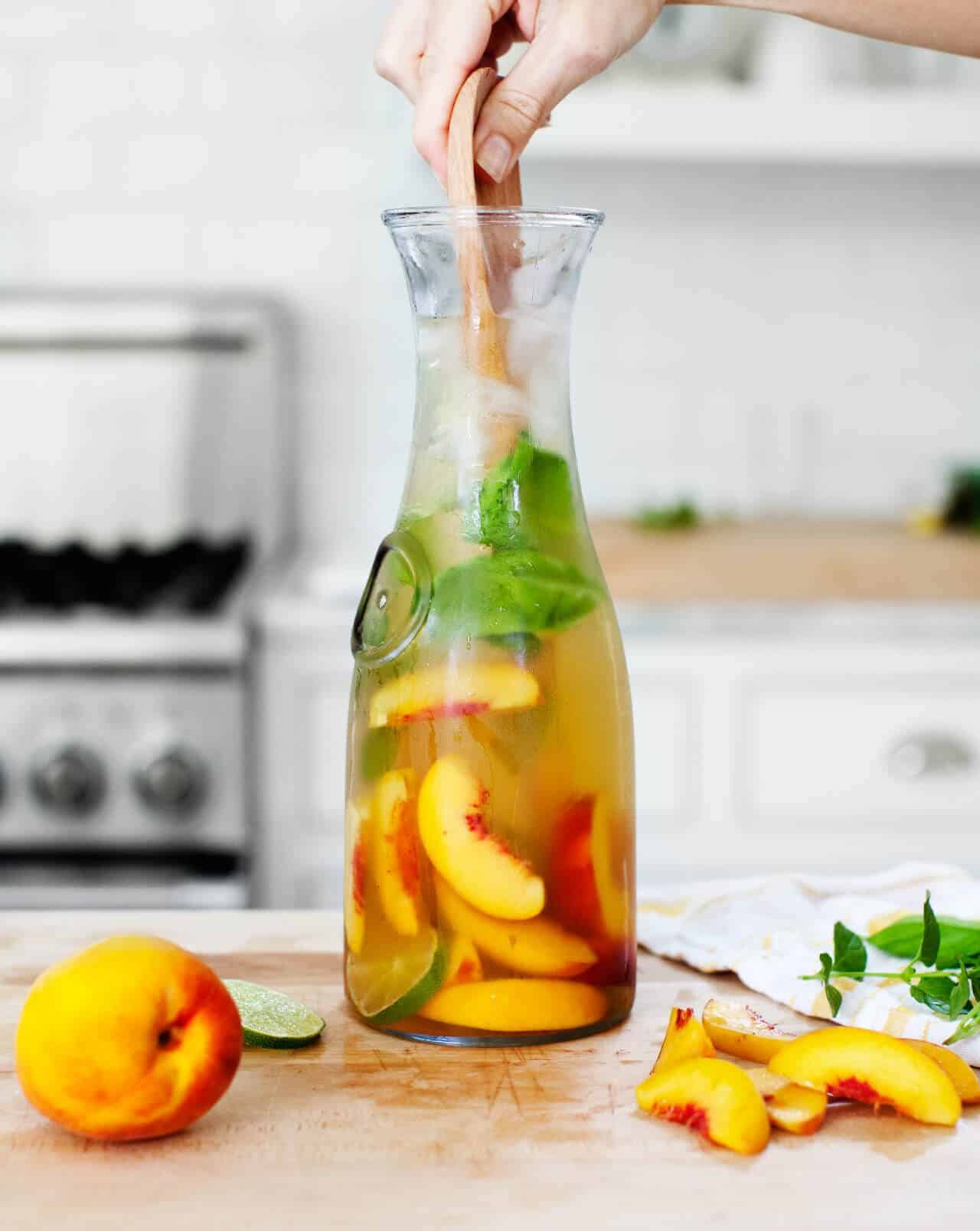 Ginger Peach Sangria