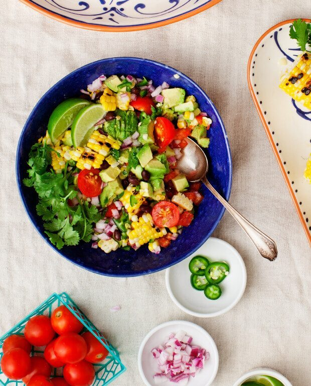 Chunky Avocado, Black Bean & Corn Salsa