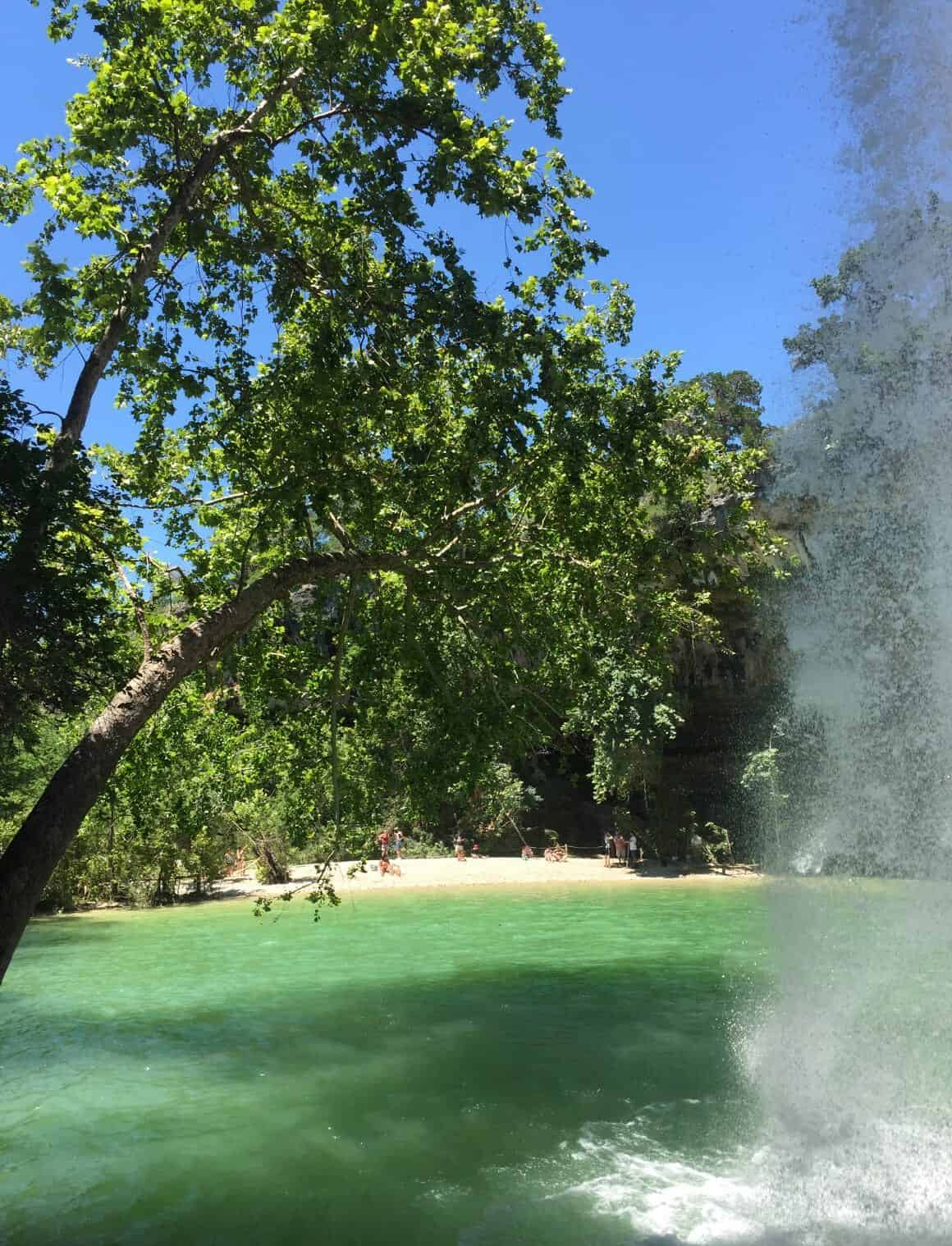 A picnic at Hamilton Pool, Dripping Springs TX