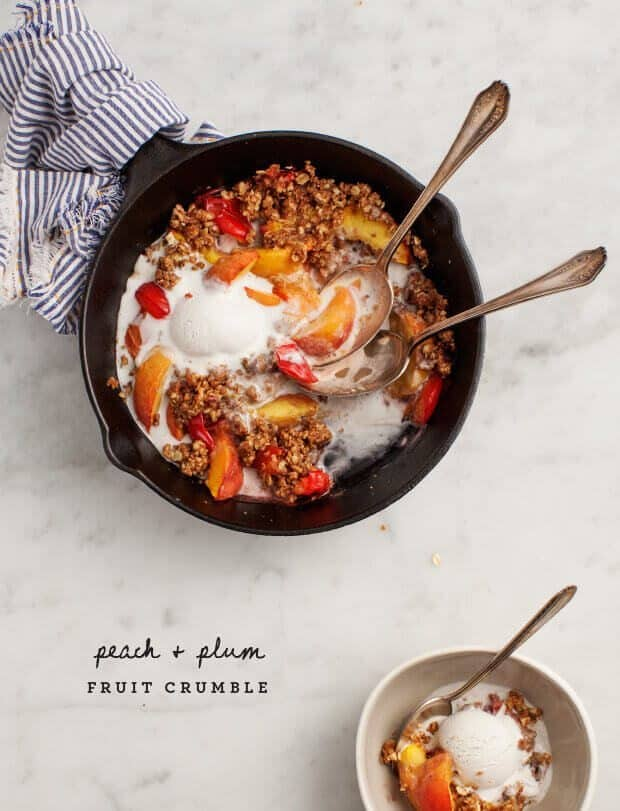 Peach & Plum Crumble