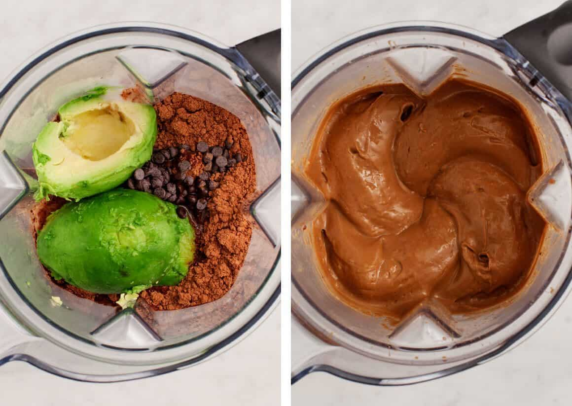 Chocolate Avocado Almond Pudding Pops