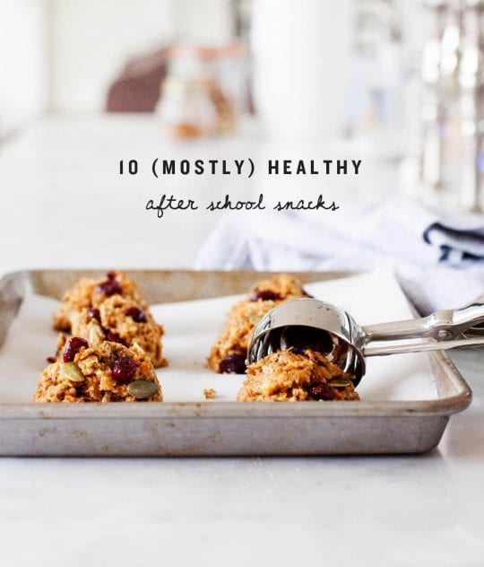 10 (Mostly) Healthy After School Snacks