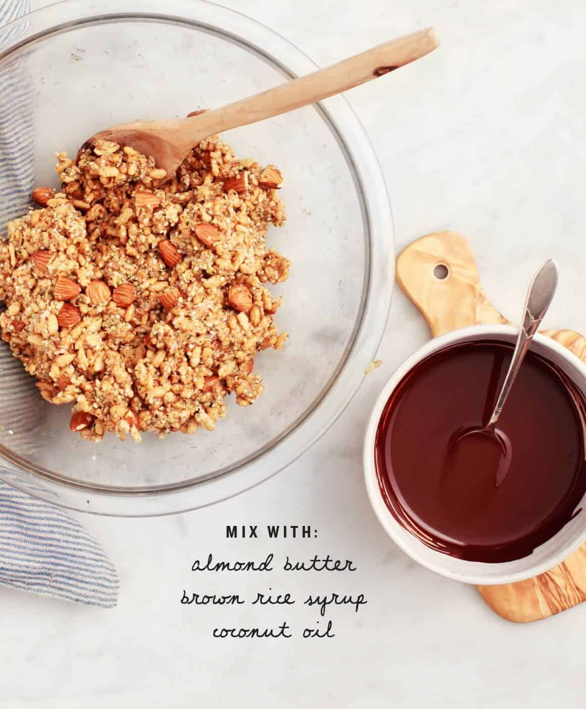 Almond Butter Brown Rice Crispy Treats Recipe - Love and ...