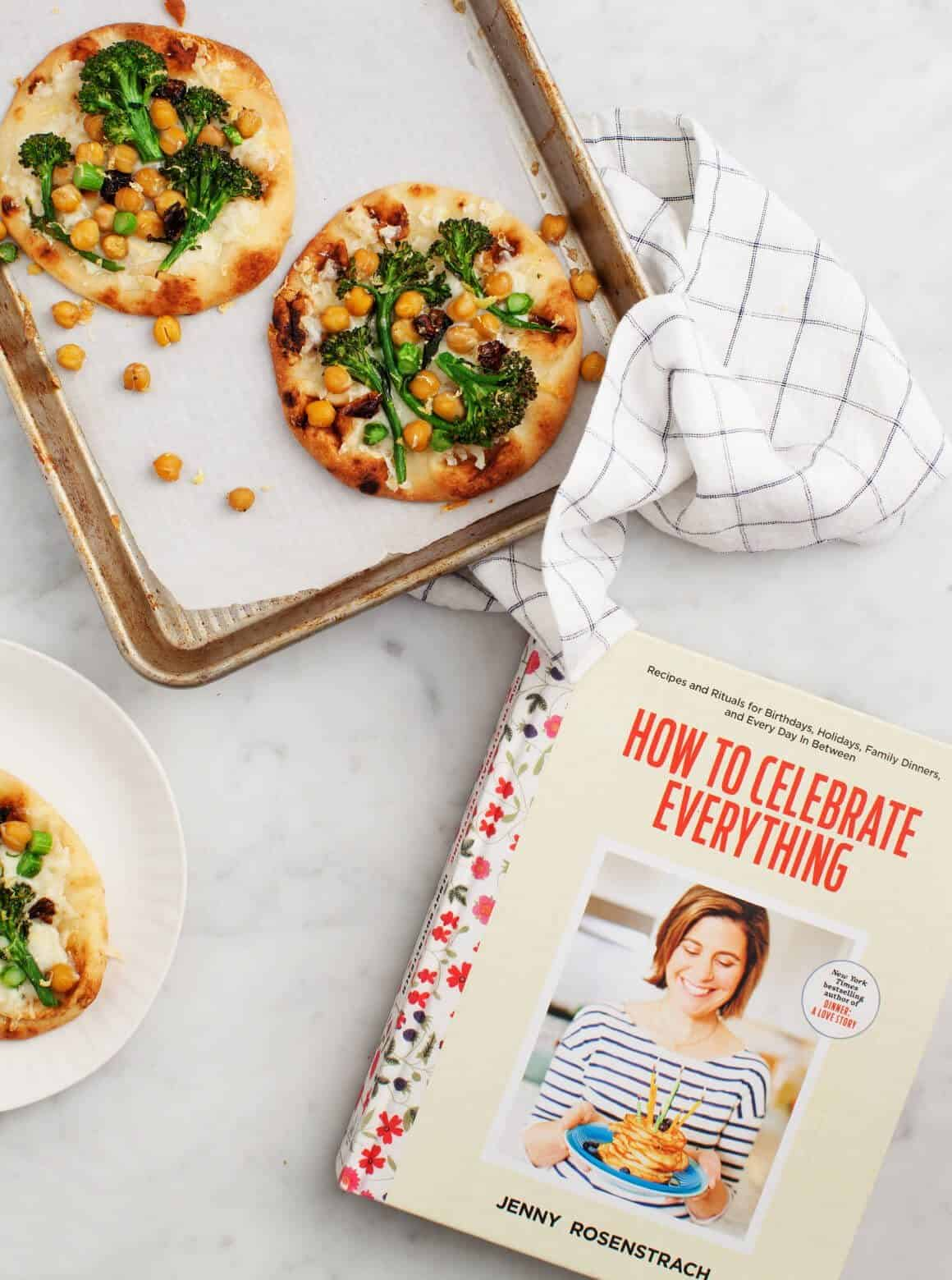 Jenny's Broccolini Chickpea Pizza