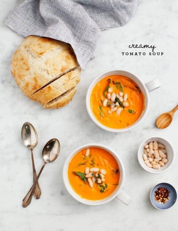 Creamy White Bean & Tomato Soup (vegan & gluten free)