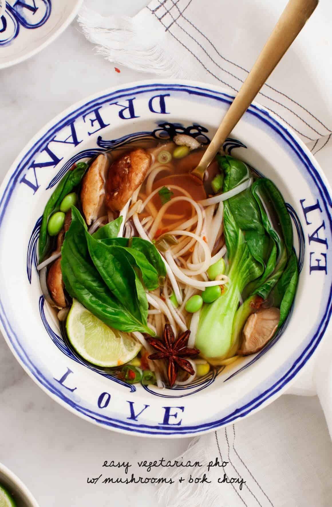Easy Vegetarian Pho (vegan & gluten free)