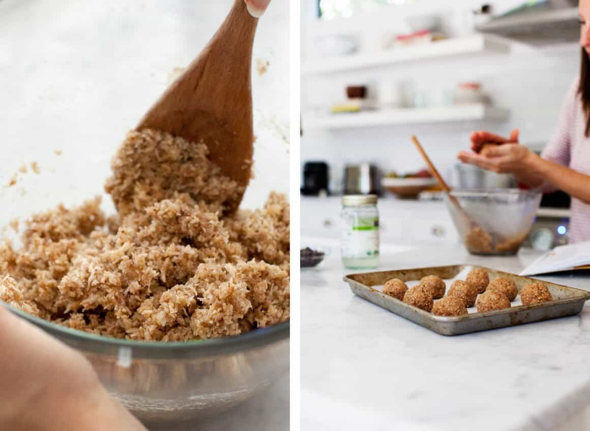 Chocolate-Dipped Vanilla Bean Macaroons from the Oh She Glows Everyday Cookbook