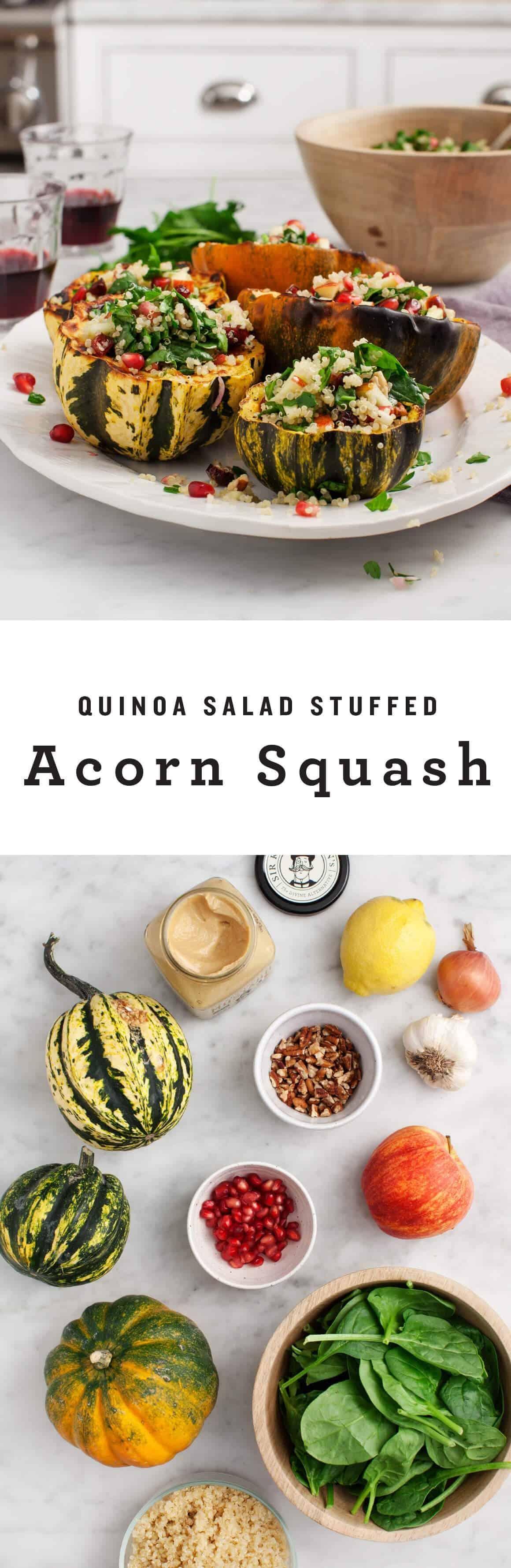 Quinoa Salad Stuffed Acorn Squash