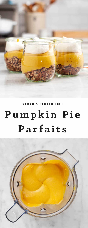 Vegan Pumpkin Pie Parfaits