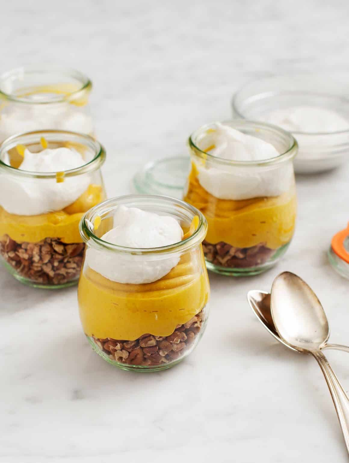 Vegan Pumpkin Pie Parfaits