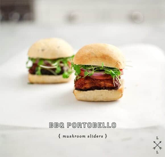 bbq portabello sliders // loveandlemons.com