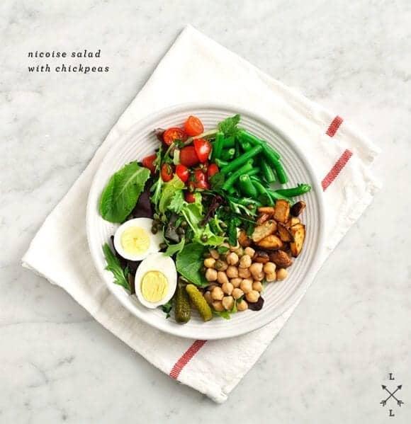 Healthy seasonal whole food recipes blog love and lemons chickpea nicoise salad forumfinder Images